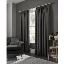 Studio G Elba Steel Pencil Pleated Curtains