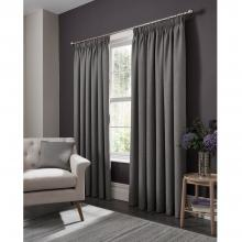 Studio G Elba Grey Pencil Pleated Curtains