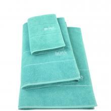 Hugo Boss Plain Aqua Towels