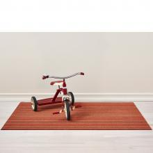 Chilewich Skinny Stripe Orange Shag Mat