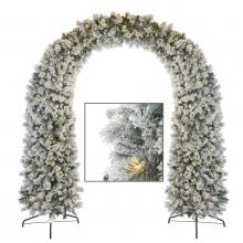 Goodwill 800 LED LIFELIKE FLOCK ARCH PINE TREE