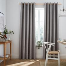 Ashley Wilde Design Flynn Silver Blackout Lined Curtains