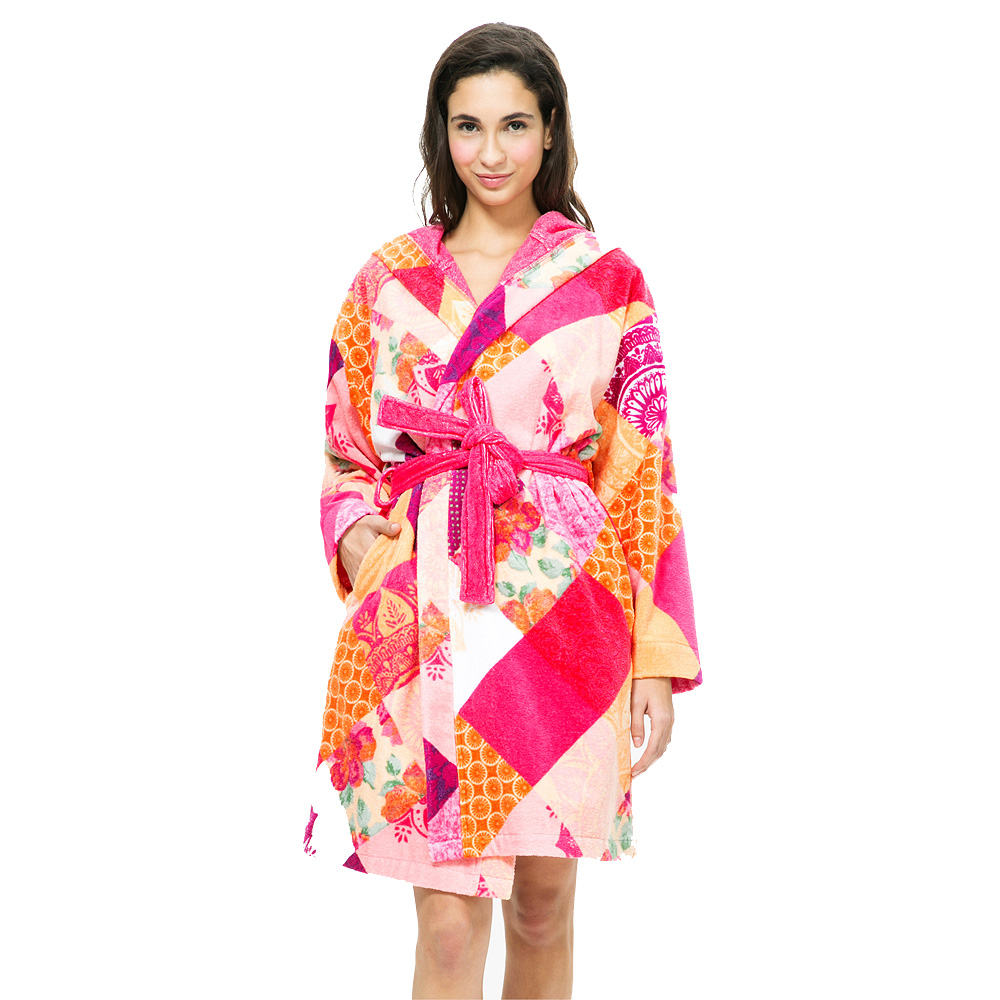 Desigual Romantic Patch Bathrobe in Luxury Robes at Seymour\'s Home