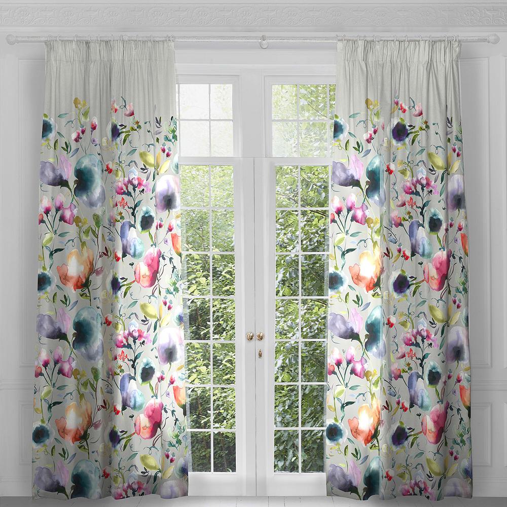 Voyage Ambra Lotus Eyelet Curtain Panels (pair)