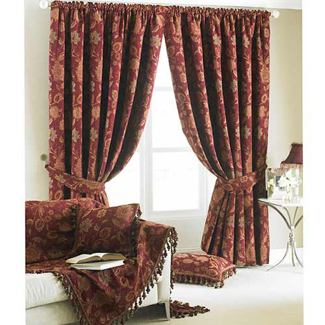 Curtains Ideas burgandy curtains : Paoletti Zurich Burgundy in Ready Made Curtains - Pencil Pleated ...
