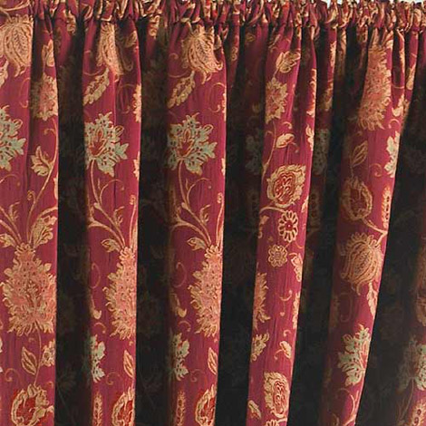 Curtains Ideas burgundy eyelet curtains : Paoletti Zurich Burgundy in Ready Made Curtains - Pencil Pleated ...