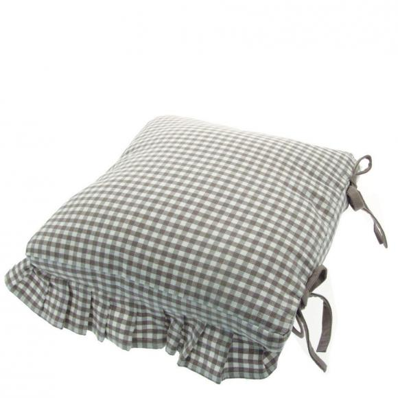 Walton & Co Auberge Tie on Frilled Seat Cushion Cover