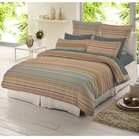 Dormisette Multi Stripe In Flannelette Duvet Covers At