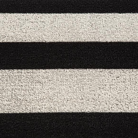 Chilewich Black & White Shag Rug 46/71cm