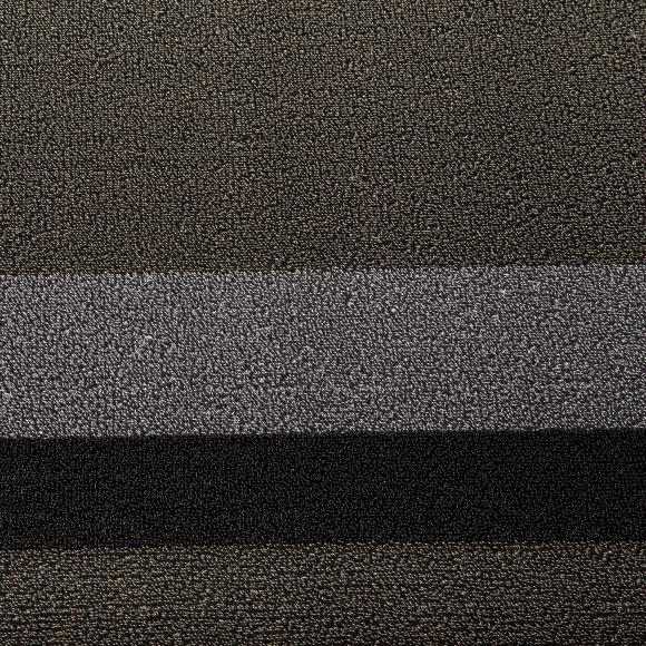 Chilewich Silver Black Shag Rug 91 152cm In Shag Rugs At