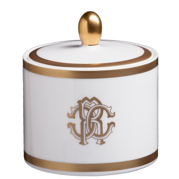 Roberto Cavalli Silk Gold Sugar Pot