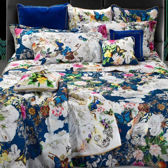 Roberto Cavalli Blaze Blue In Italian Duvet Covers At