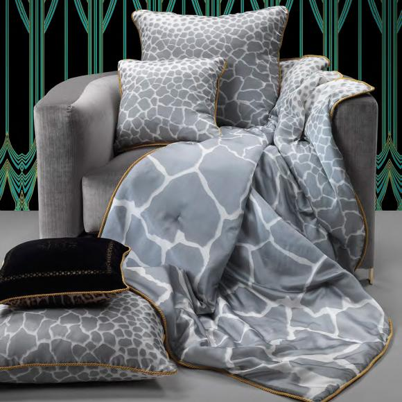 Roberto Cavalli Jeraph Grey In Italian Duvet Covers At