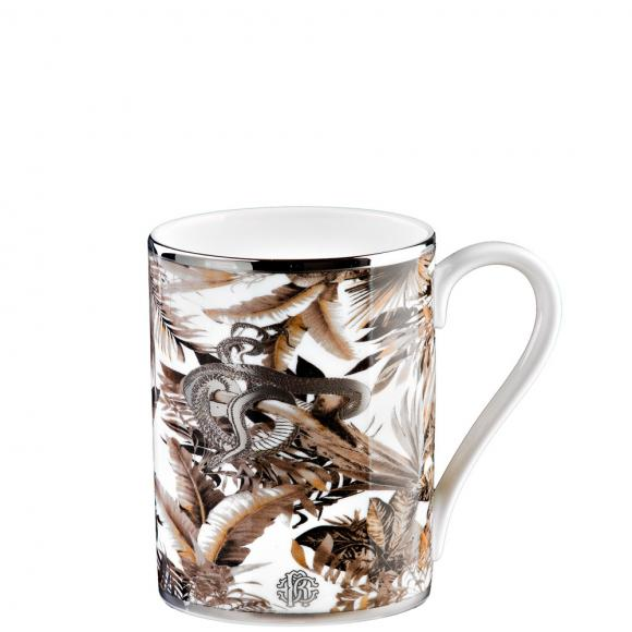 Roberto Cavalli Tropical Jungle White Mug