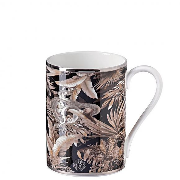 Roberto Cavalli Tropical Jungle Black Mug